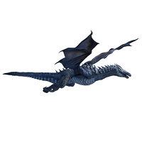 3D rigged dragon