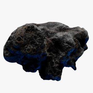 3D rocky asteroid 5 model