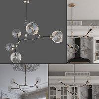 3D bubble ceiling lamp model