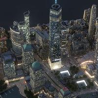 manhattan lower city 3D