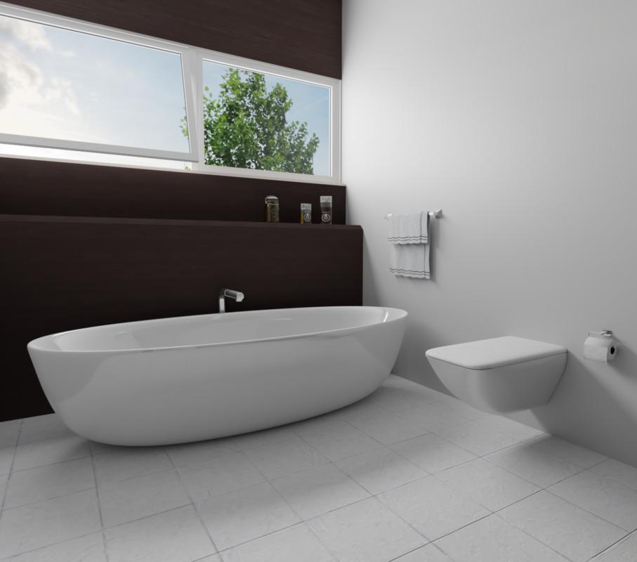 3D modern bath room