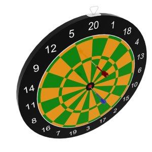 3D darts hobbies model