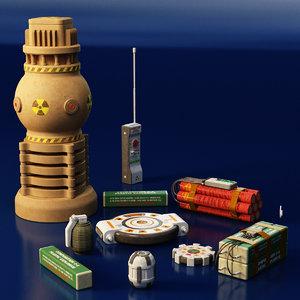 3D explosive grenade model