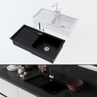 3D modern kitchen sink