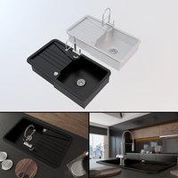 contemporary kitchen sink model