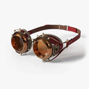 steampunk goggles 3D