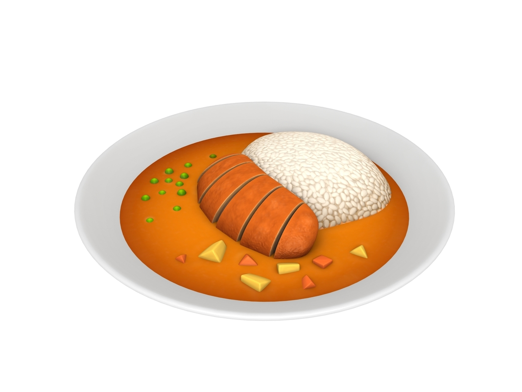 curry rice 3D model