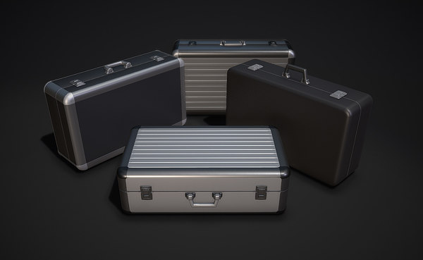 3D metal briefcases - model