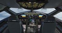 3D model 787 dreamliner cockpit