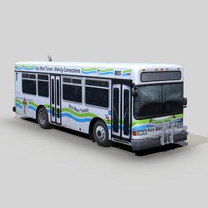 3D gillig g18e shuttle bus model