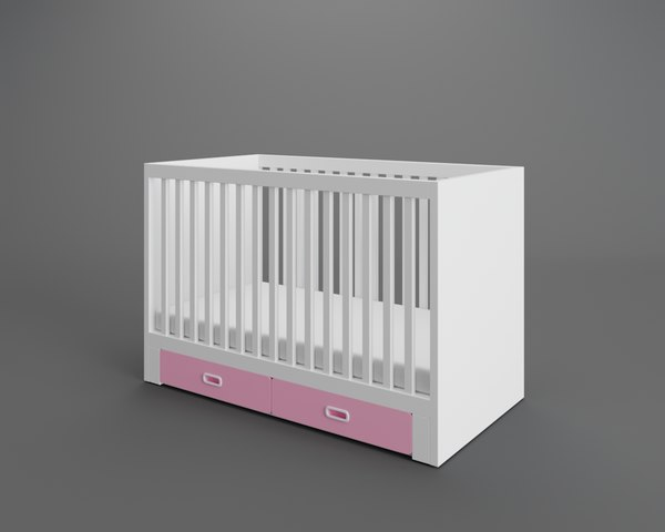 3D stuva fritids crib drawers