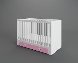 3D stuva fritids crib drawers