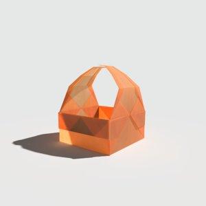 origami basket 3D model