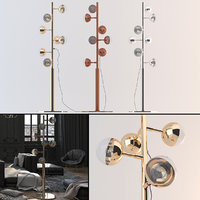 bubble floor lamp 3D model