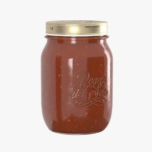 3D model jar tomato sauce