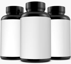 bottle supplement 3D model
