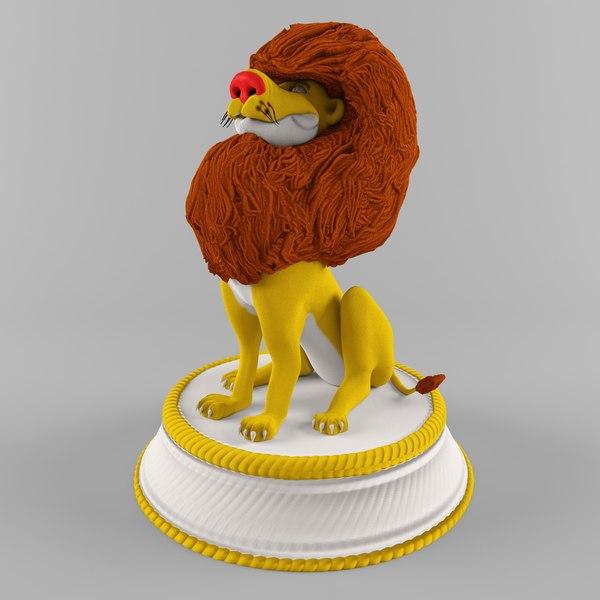 figure lion 3D model