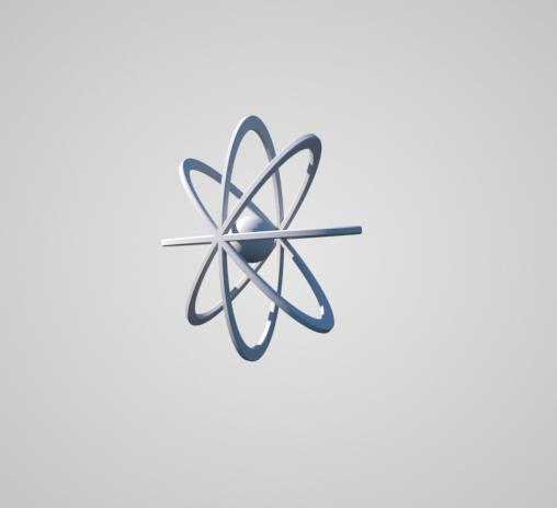 3D model atom molecule