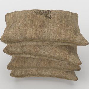 food sack grain stack model
