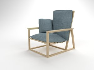 3D model easy chair