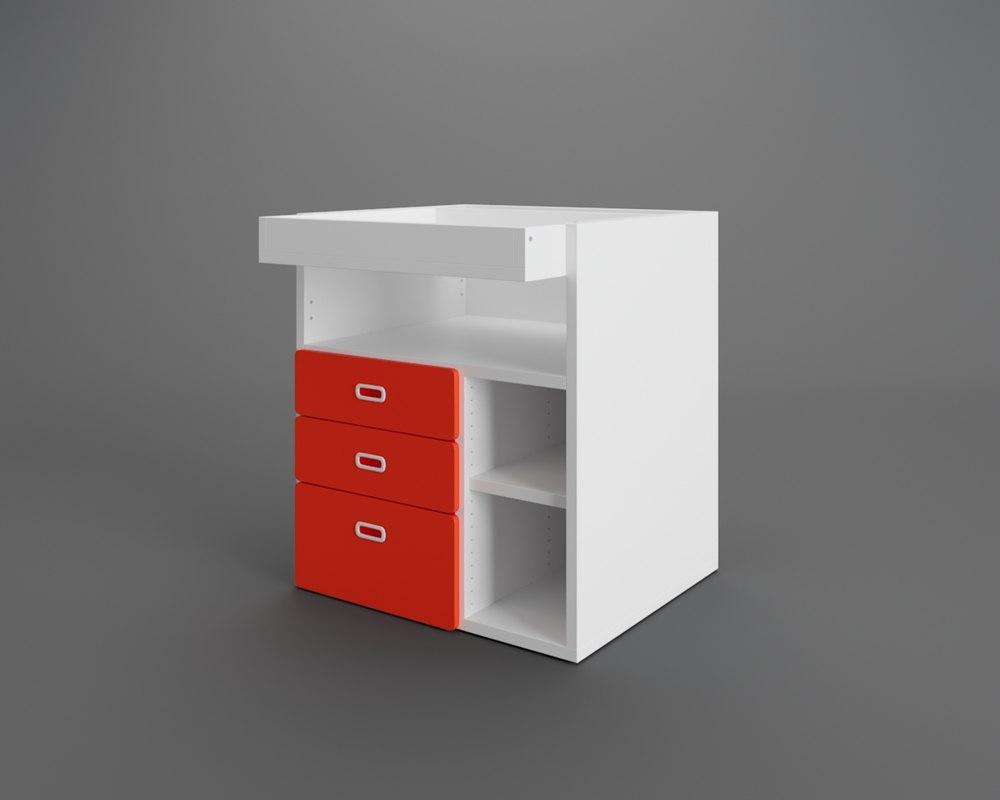 c648724e64c9 3D stuva fritids changing table model - TurboSquid 1407937