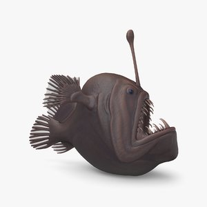 anglerfish pbr 3D model