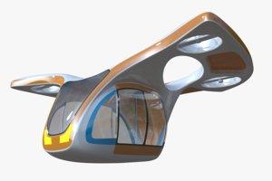 fictional passenger drone 3D