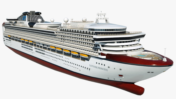 3D cruise vessel sapphire princess model