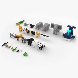 3D model animals blocky