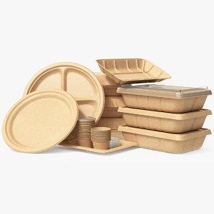 food pack packaging 3D model