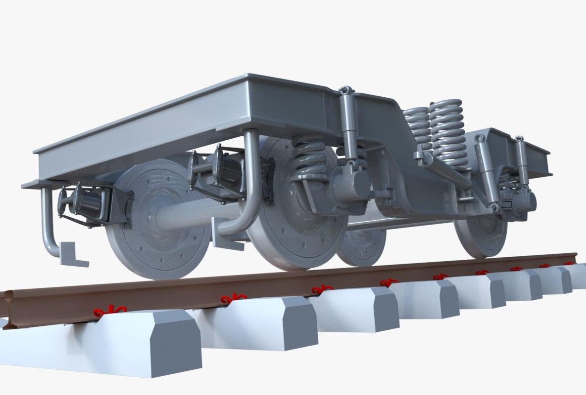 locomotive bogie 3D model