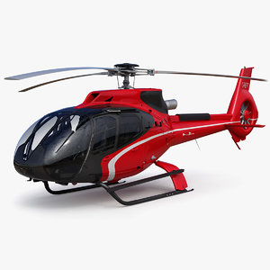 3D airbus helicopter h130 - model