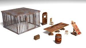 3D dungeon furniture