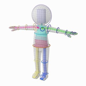 adult stylized stickman rigged model