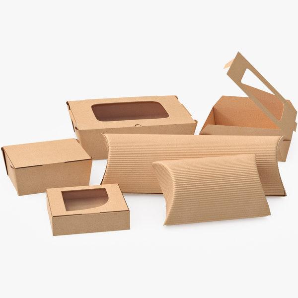3D model food pack packaging
