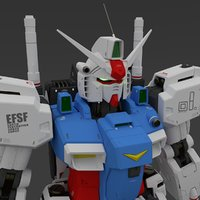 3D model gundam rifle gun