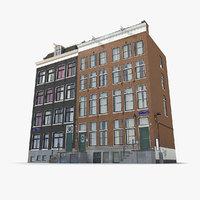 old amsterdam buildings 3D