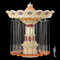 3D carousel attraction model