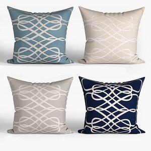 decorative pillows set 069 3D model