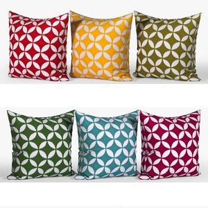 decorative pillows set 070 3D model