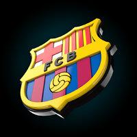 3D barcelona logo model