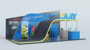 3D model exhibition expo scene