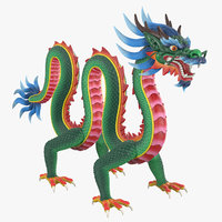 3D chinese dragon rig clr model