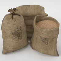 food sacks grain open model