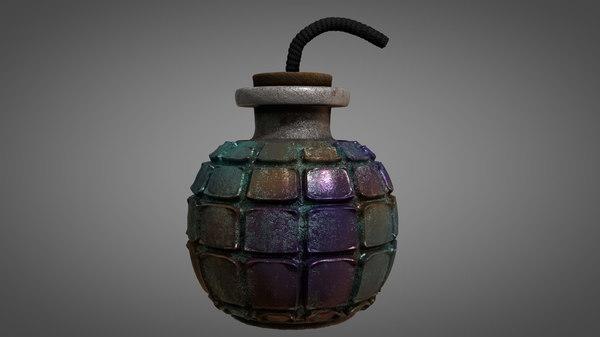 ancient explosive 3D model