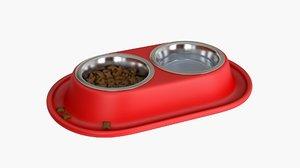 3D pet bowl model