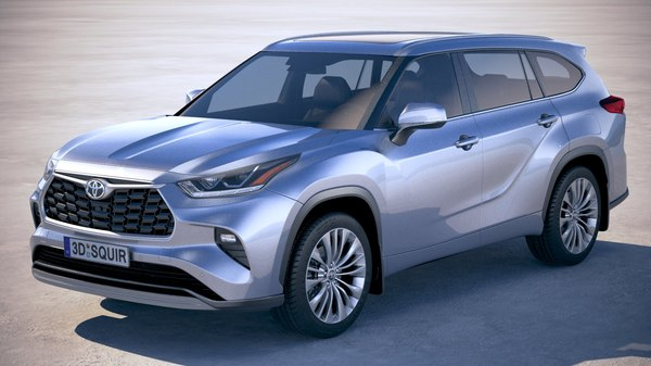 3D toyota highlander 2020 model