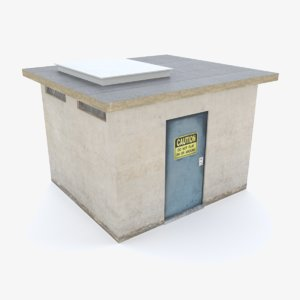 3D realistic utility shed