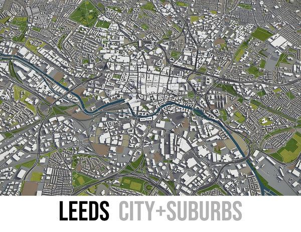 3D city leeds surrounding -