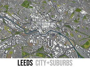 3D city leeds surrounding -